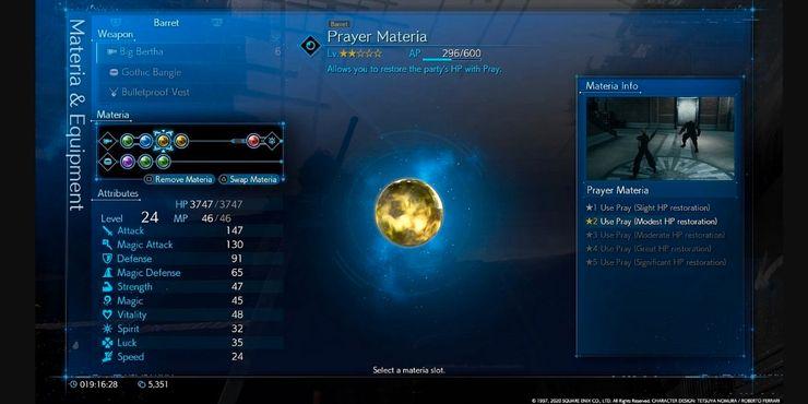 Materia Yang Tidak Boleh Anda Lupa Gunakan Di Final Fantasy 7 Remake